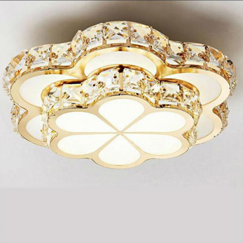 Crystal LED Ceiling entrance hallway lights Flowers lights Gold corridor balcony circular lamp spotlights manufacturers
