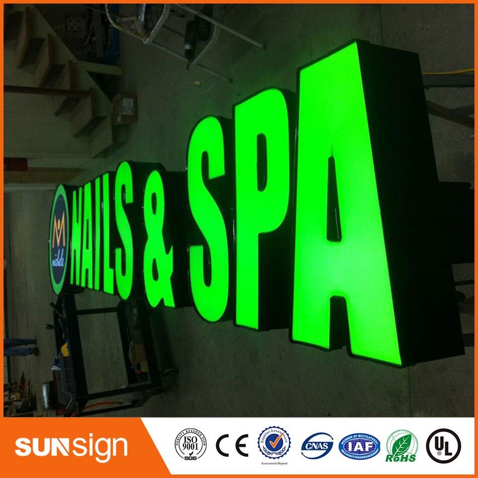 En gros En Métal Lettre Signes LED Canal Signes pour La Publicité De Construction