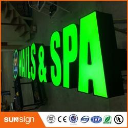 Metal al por mayor carta signos LED canal signos publicidad edificio