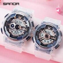 Sanda new couple watch waterproof electronic watche