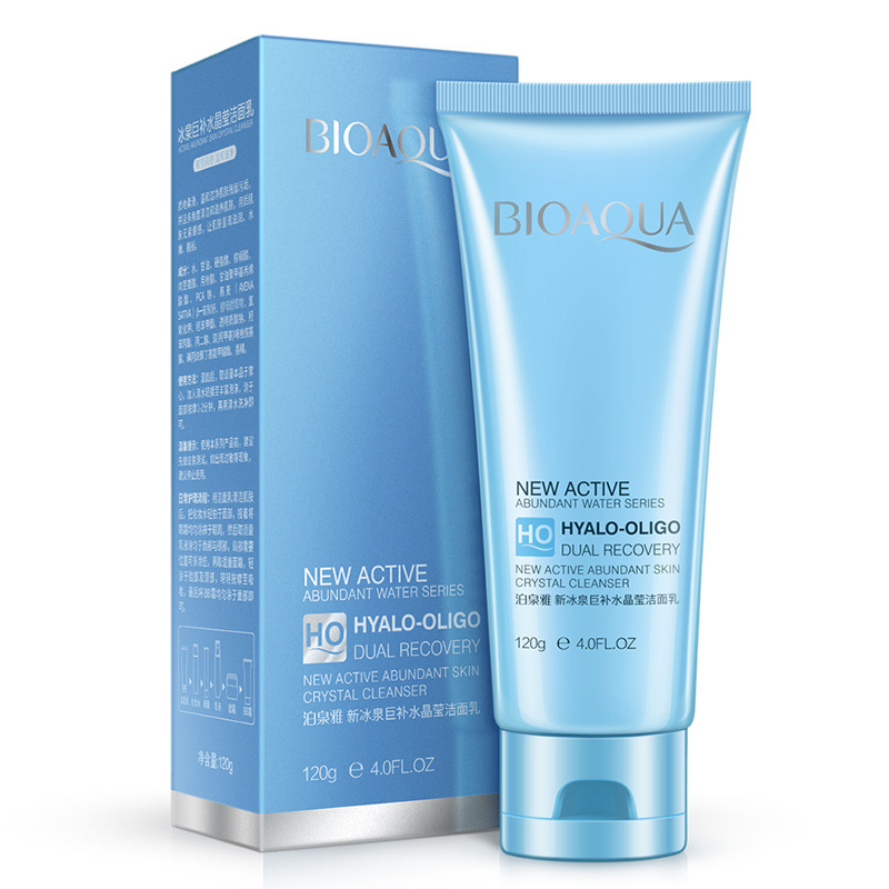 BIOAQUA Ice spring Face Cleanser Deep Cleaning Skin Care Moisturizing Remover Acne BlackHead Treatment Oil Contral 120g