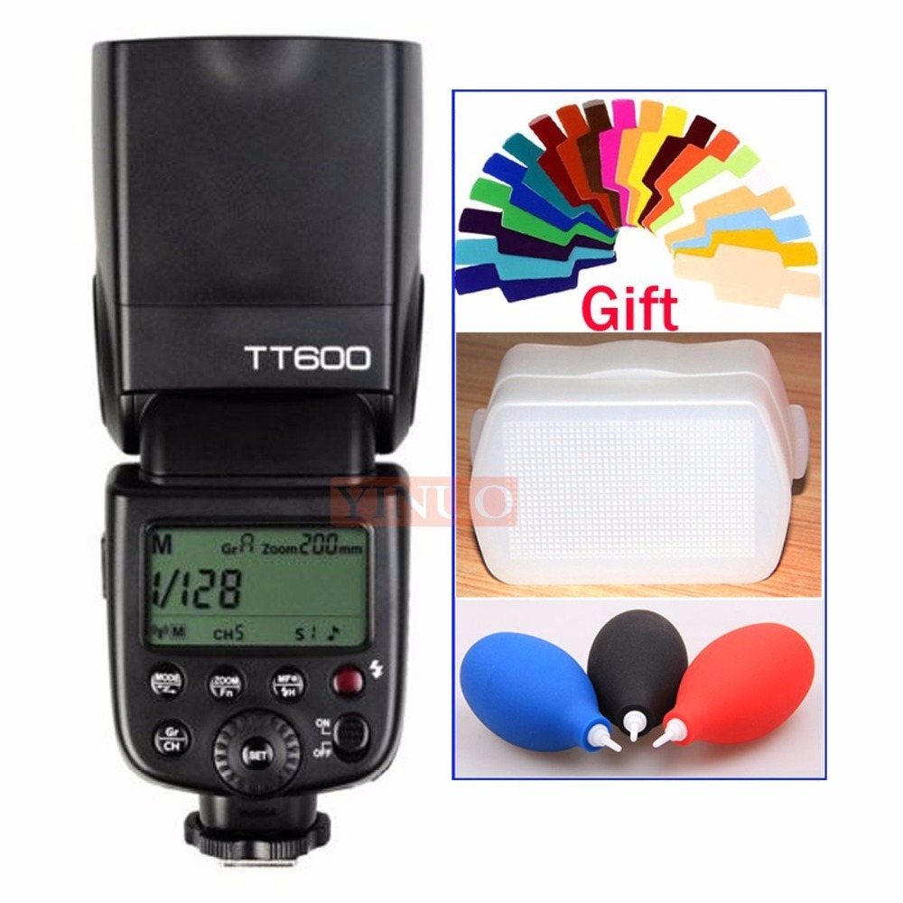 Godox TT600 2.4G Wireless GN60 1/8000s  Master/Slave Camera Flash Speedlite for Canon Nikon Pentax Olympus Fujifilm + Gift spash sl 685c gn60 wireless master slave flash light ttl speedlite for nikon lcd screen cameras flash adjustable fill light