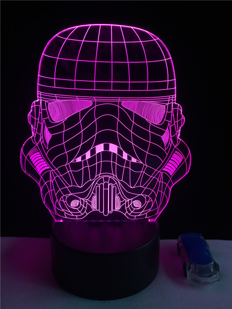 Luzes da Noite colorido usb star wars storm Function 4 : Lampada Led/lamparas/led Lamp Indoor