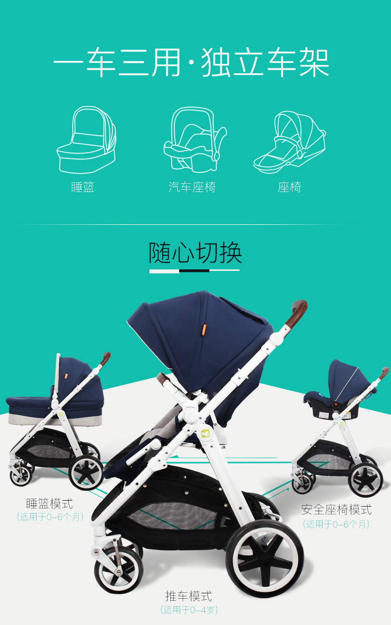carro coolbaby duplo-uso carrinho de criança luz
