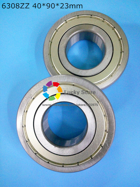 6308ZZ 1Piece bearing free shipping 6308 chrome steel deep groove bearing 6308ZZ 40*90*23 mm