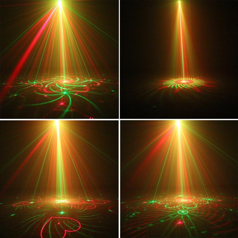AC110v 240v 3w 300mw 5 Holes 80 Patterns RG Laser Projector Light ...