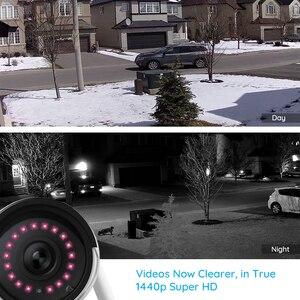 Image 2 - Reolink cámara wifi de 2,4G/5Ghz, visión nocturna infrarroja Onvif de 4MP, impermeable IP66, RLC 410W de vigilancia para interiores y exteriores, 2 unidades