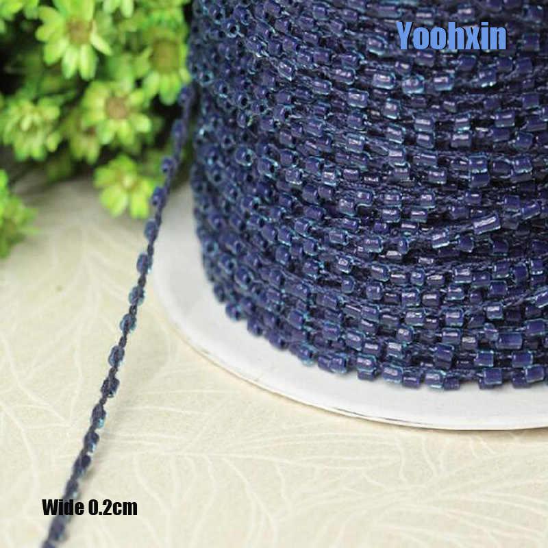 0.2 CENTIMETRI di Larghezza blu Scuro perline fiore Del Ricamo tessuto di pizzo nastro trim FAI DA TE cucito applique collare cavo abito da sposa guipure decor