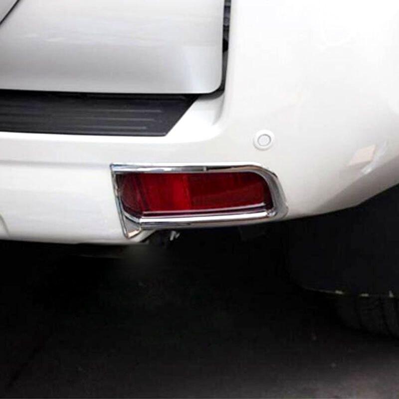 For Toyota Land Cruiser Prado FJ150 2014 2015 2016 2pcs Chrome Car Front Head Light Lamp Hood Cover Trim Molding Accessories