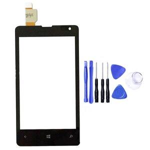 Image 5 - 노키아 들어 microsoft lumia 435 532 n435 n532 터치 스크린 센서 lcd 디스플레이 디지타이저 유리 터치 패널 교체