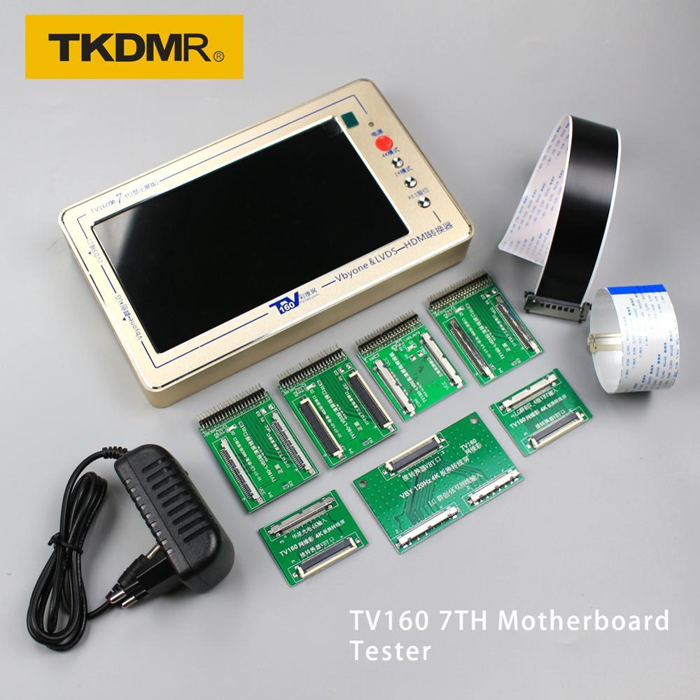 Tkdmr tv160 7th tv placa-mãe testador ferramentas vbyone & lvds para hdmi conversor com sete adaptador placa frete grátis