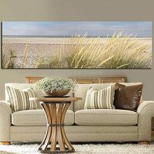 Toile murale de peinture de paysage de plage, affiche imprimée en HD