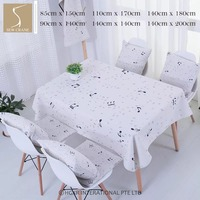 SewCrane Seamless Abstract Pattern With Music Symbols Table Cloth Home Living Cotton Linen Tablecloth