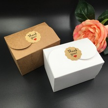 30pcs/lot brown and white Box Gift Favor DIY Soap Cookies Packaging Paper Boxes Free shipping 9*6.2*6cm