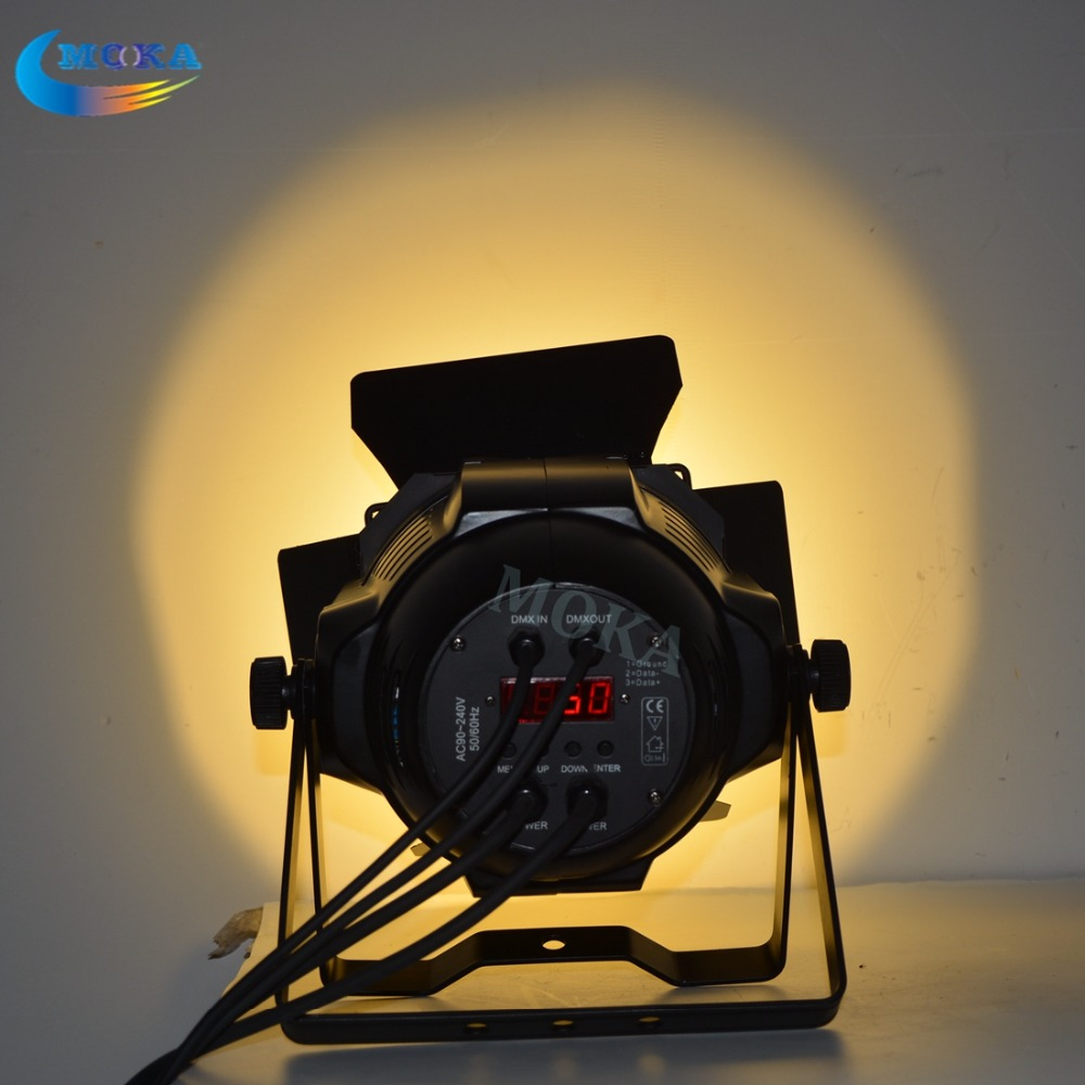 Image 2 - 2 pcs/lot High quality 200W Warm White/Cool White Par Can led par light dmx cob par light led Surface light for stage background-in Stage Lighting Effect from Lights & Lighting