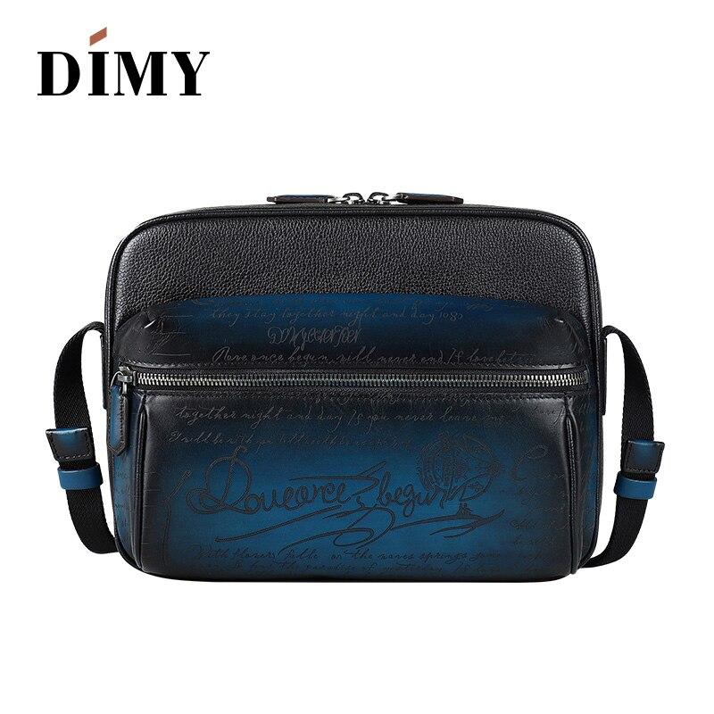 DIMY для мужчин's пояса из натуральной кожи курьерские Сумки Модные Винтаж двойная молния мужчин диагональ сумки бизнес повседневное