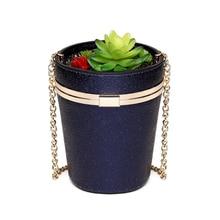 717ca9fe1ed Women Laser handbags ladies PU leather bucket bag Fun shinning flower pot  messenger bag potted plant