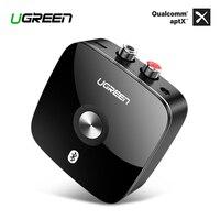Ugreen Bluetooth RCA приемник 4,2 aptX 3,5 мм Aux аудио беспроводной адаптер Музыка для наушников автомобиля 2RCA Bluetooth приемник 3,5