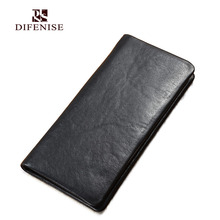 Difenise Genuine Leather font b Men b font Larger capacity font b Wallets b font font
