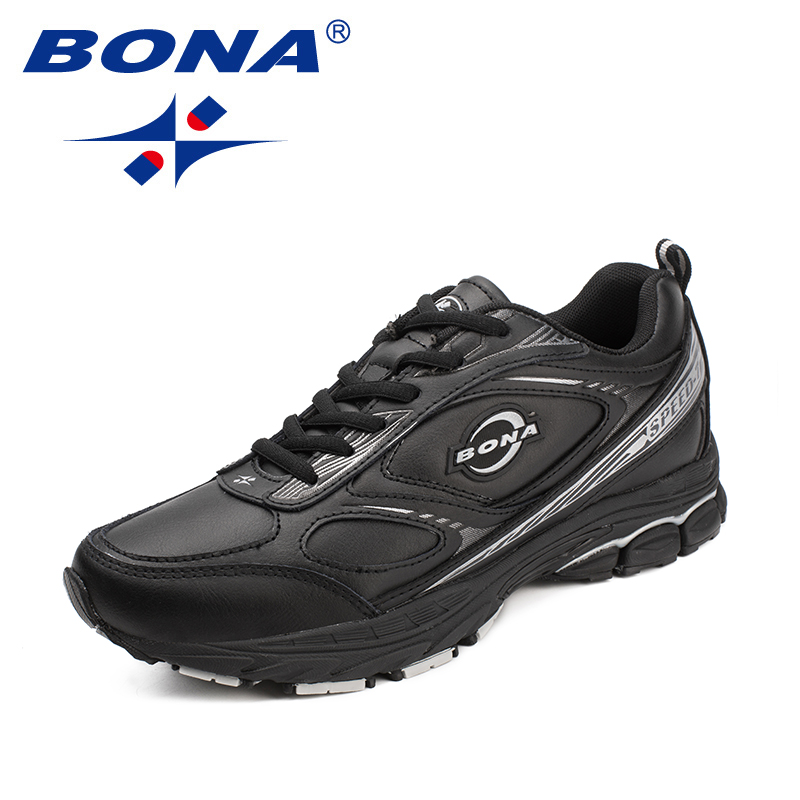 BONA New Arrival Classics Style Men Running Shoes Lace Up Men Sport Shoes Outdoor Jogging Shoes Leather Sneakers Free Shipping