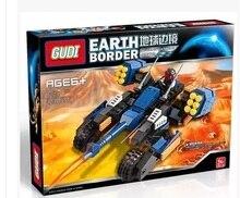 GUDI 8214 Earth Border Blazing Extreme Minifigure Building Block 223Pcs Bricks Toys Best Toys Compatible with Legoe