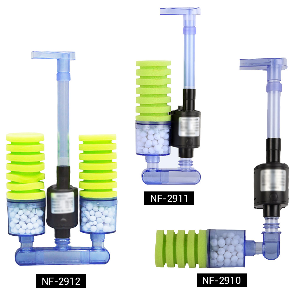 NICREW Sponge Filter Aquarium Fish Tank Filter with Submersible Water Pump and Biochemical Sponge Filter for Water Circulation in Filters Accessories from Home Garden