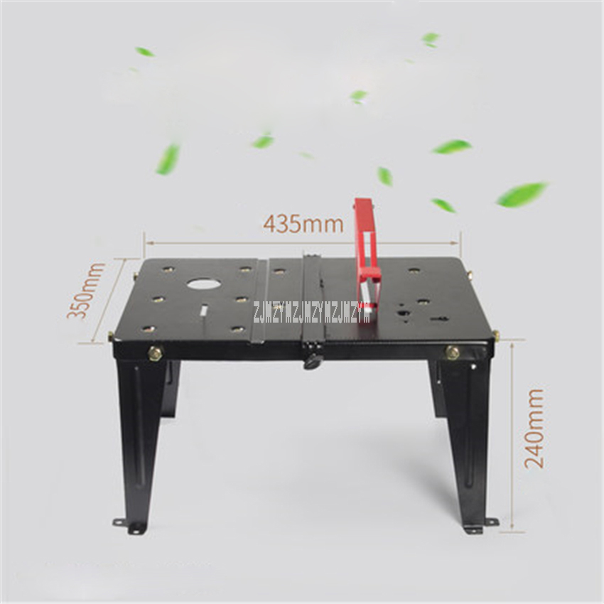 T-P03 New Multifunctional Woodworking Workbench High-quality Stainless Steel Work Table Household Portable Woodworking Saw Table