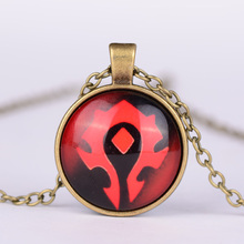 2015 New Arrival WoW World of Warcraft Hearthstone Round Glass Pendant Vintage Jewelry For Men Women Best Friends Pendant G7