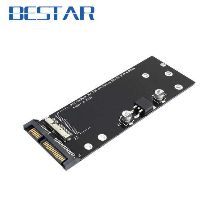 PCBA 17+7pin SSD HDD to SATA 22Pin Hard Disk Cartridge Drive for Macbook Air Pro MD223 MD224 MD231 MD232 SSD