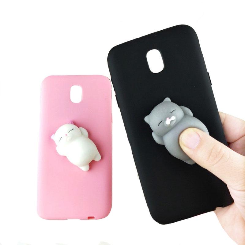 30f1b6a399 Cute Pink Cat Case For Samsung Galaxy S8 S9 J1 Mini Prime J1 2016 J2 ...