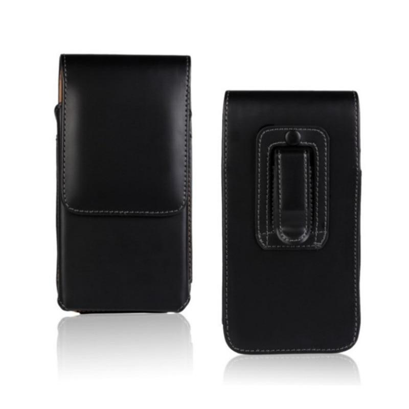 1 unids envío Negro estilo vertical cintura plegable cinturón clip caso  para Samsung Galaxy note 5 nota 7 S7 borde S6 borde 8a482b29620d
