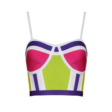 Top Quality Fashion Sling Tight Bandage Top HL Tanks Tops Straps Short Tops