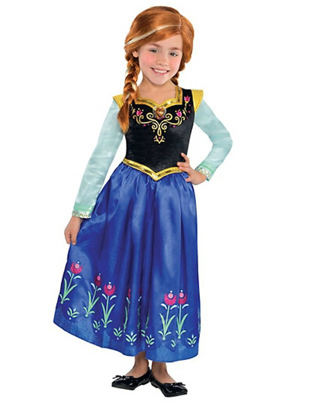 Summer Dress Girls 2015 Anna Toddler Dress Print Princess Princess Costume Printable
