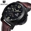 2016 nueva benyar mecánica relojes de los hombres de moda de lujo deportes ejército militar relojes de buceo 30 m marca de relojes de pulsera relogio masculino
