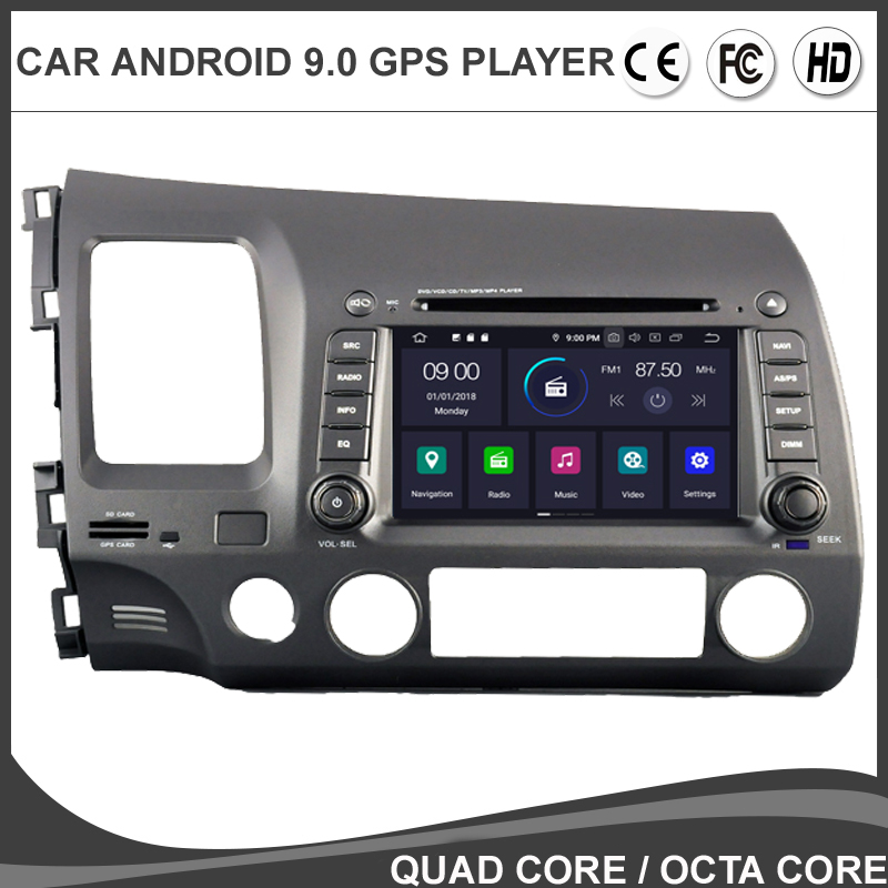 7'Android 9,0 Octa Core Auto DVD GPS-Player Für <font><b>HONDA</b></font> <font><b>CIVIC</b></font> 2006-2011 <font><b>Stereo</b></font> Multimedia Auto Radio Navigation BT wifi/4G Steuergerät image