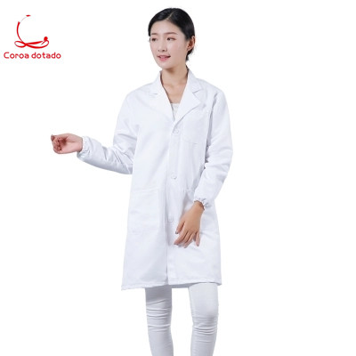 Long sleeve thick lab coat mens and womens chemical elastic cuff long food factory