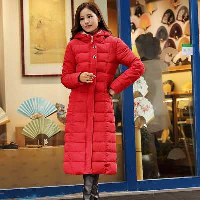 ФОТО New Arrival Fashion Winter Hooded Collar Plus Size Cotton Jackets Over-Long Warm Thick Zippes Overcoat Women Coat H6467