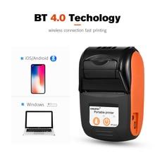 Оптовая продажа, мини Термопринтер для чеков для мобильных телефонов, карманный беспроводной принтер Bluetooth для телефонов Android, iOS, поддержка ESC/Pos