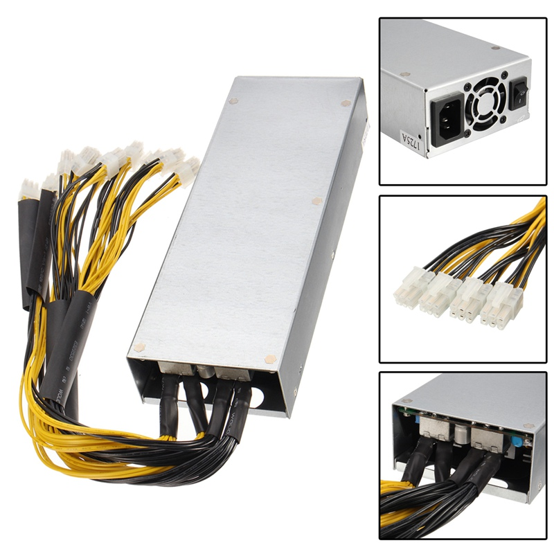 1400W Metal 8 Card Miner Power Supply For S7 S9 Series Mining Machine Dedicated New ATX Power For Computer PC1400W Metal 8 Card Miner Power Supply For S7 S9 Series Mining Machine Dedicated New ATX Power For Computer PC