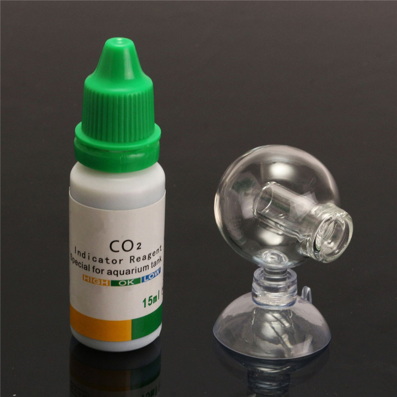Aquarium CO2 Glass Drop PH Term Monitor Fish Tank Test Concentration Detector With 15ml Detecting Water New