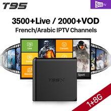 Francia IPTV Box T95X Smart TV Box SUBTV kód előfizetés 3500 csatornás IPTV Európa Belgium spanyol francia arab IPTV Top Box