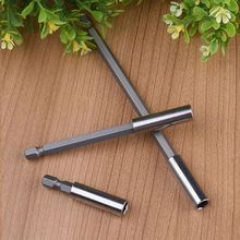 цена на Tool Accessories 3Pcs For Power Tools 50/100/150mm Magnetic Screwdriver Extension Bit Quick Release 1/4 Hex Shank Tools
