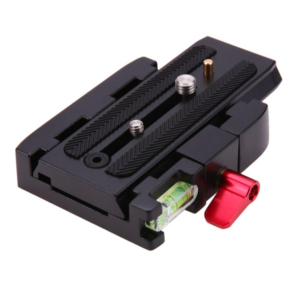 Alloet Kamerastativ Aluminium Schnellwechselplatte Montage P200 Zangenadapter für Manfrotto 577 501 500AH 701HDV Q5