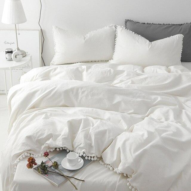 Cilected Greywhitepink 4pcs Duvet Covet Set Sheet Pillowcases