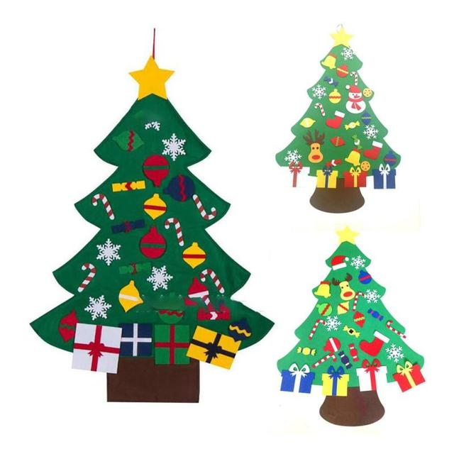 DIY Felt Christmas Tree Wall Door Hanging Pendant Xmas New Year Kids Gift Home Office