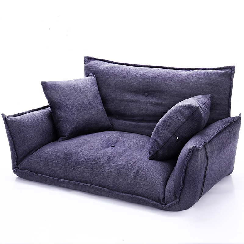 Modern Folding Sofa Bed Adjustable Arm Reclining Back Living Room