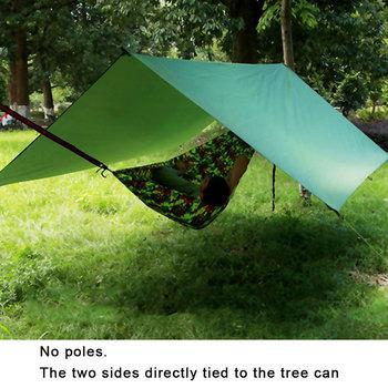 Namiot podłogowy wzmocniony wielofunkcyjny namiot plandekowy ślad kempingowy piknik na plaży wodoodporna plandeka Bay Play 3f Ul tanie i dobre opinie 1500-2000mm Szybkie automatyczne otwieranie Pojedynczy namiot BN9-3