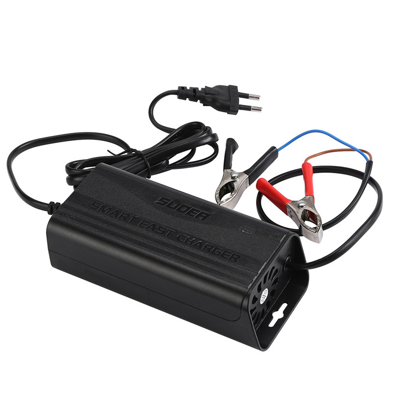 2017 new 12V 5A Smart Car Motorcycle Battery Charger Lead Acid Battery Charger 220V high quality car-styling