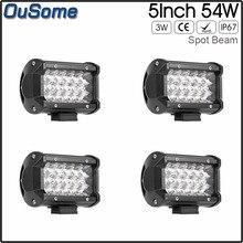 10-30V DC 4×4 truck car ATV UTV 2 pack 5″ 54W spot beam led work light for JEEP boat tractor waterproof
