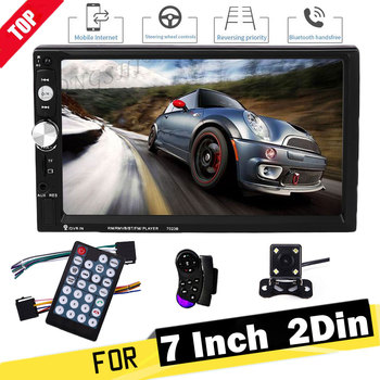 LONGSHI 2 Din Car Radio 7 Bluetooth Stereo Multimedia player Autoradio MP3 MP5 Touch Screen Auto Radio Support Rear View Camera image